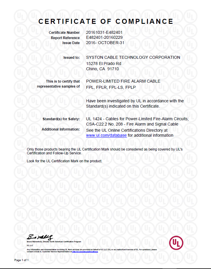 3 E340802-20140307-CertificateofCompliance-page-001