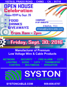 Syston Cable's Open house celebration flyer